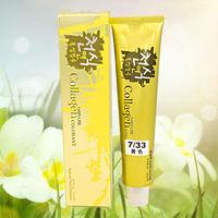 shiny yellow hair color cream