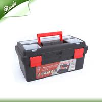 "16"" Multifunctional Black Portable Large Plastic Container Hard Waterproof Storage Tool Box Manufacturer"