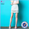 Yihao White Sexy Lady MINI SKIRT Slim Short Fitted fashion Skirts with mesh ruffled sweep