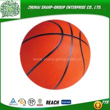 OEM Heat transfer printing wholesale rubber mini basketball 3# for kids