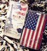 Hot sale high quality OEM logo embossed leather flag case for blackberry