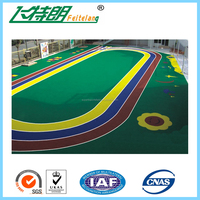Children Playing Area Synthetic Surfacing Kid Rubber Floor Tiles Mats EPDM Granules