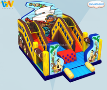 New style party island cheap inflatable slide 2015 newest used for rental