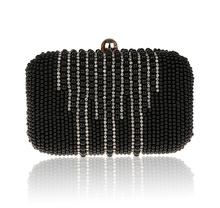 Bordados con cuentas de perlas para mujer del diseñador de noche nupcial mano bolsos de embrague