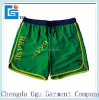stylish quality 100% play boy polyester elastic waist shorts for men
