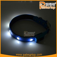 High Quality TPU Waterproof Webbing LED Flashing Dog Collar