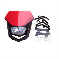 Red dirt bike parts universal 12v 35/35w motorcycle headlight