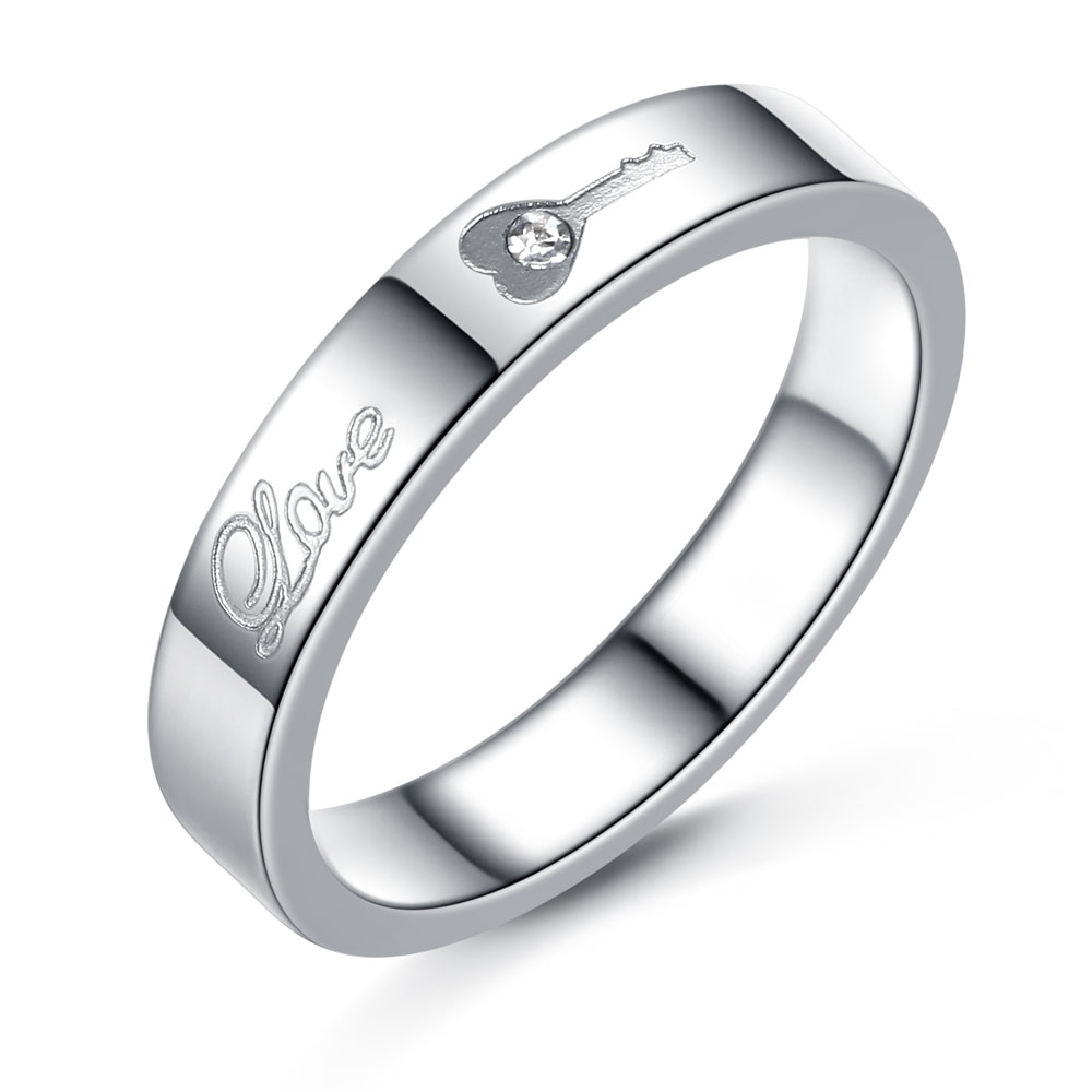 Stainless Steel Couple Rings Korean Jewelry,Lock/ Key His And Hers ...