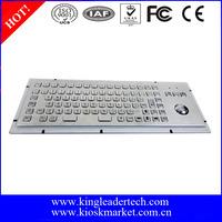 Function keys waterproof metal keys computer keyboard with trackball