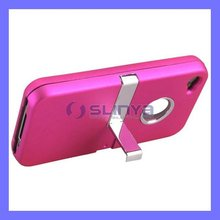 Multi Color Hard Material Flat Skin for iPhone 5 Chrome Stand Case