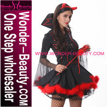 Halloween Costume Sexy Women Hot Black And Red Devil Costume