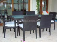 Seats 6 outdoor garden wicker furniture