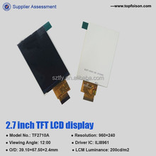 New development 2.7 inch lcd multi touch screen with 24 PINS for car monitor TF27010A