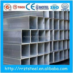 schedule 40 galvanized square steel pipe/tube , pre galvanized square steel pipe house