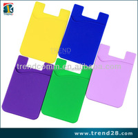adhesive sticker silicon smart wallet mobile card holder