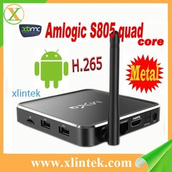 full hd 1080p android tv box mxq metal amlogic s805 wireless keyboard for android tv box