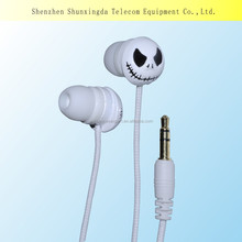 2015 Cartoon earbuds funny earphones fabric cable hearphones