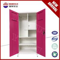 2 doors steel bedroom almirah design / modern home furniture change clothes locker