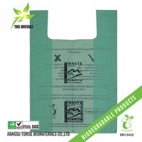 biodegradable plastic shopping bags in roll