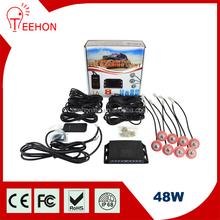 8pc bulbs LED ATV Strobe Lights 48W LED Flash Emergency Signal Light with remote control