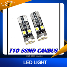 canbus T10 8 SMD 3528 LED Canbus No OBC Error 194 168 W5W T10 8SMD LED Interior Instrument Light bulb lamp White
