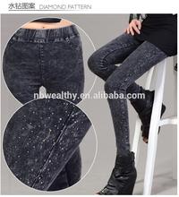 fotos sexy pantalones vaqueros pantalones vaqueros de las mujeres medias polainas con cintura alta