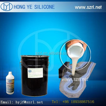 Molding silicone rubber mold for polyester resin