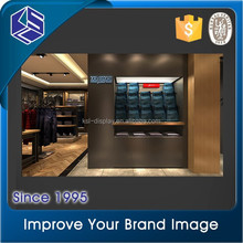 bright in color shopping mall wall mounted clothing showcase shop interior design