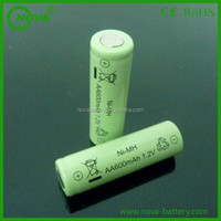 high quality 1.2v ni-mh aa rechargeable battery 600mah