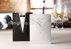 Top popular Newest good price bride and groom wedding invitation card