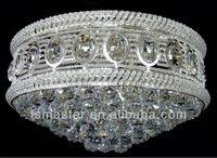 gold/silver color big round shape modern crystal chandelier light for hotel lobby/villa/hall