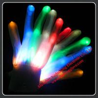 Wholesale Party Supply LED Flashing Rainbow Gloves