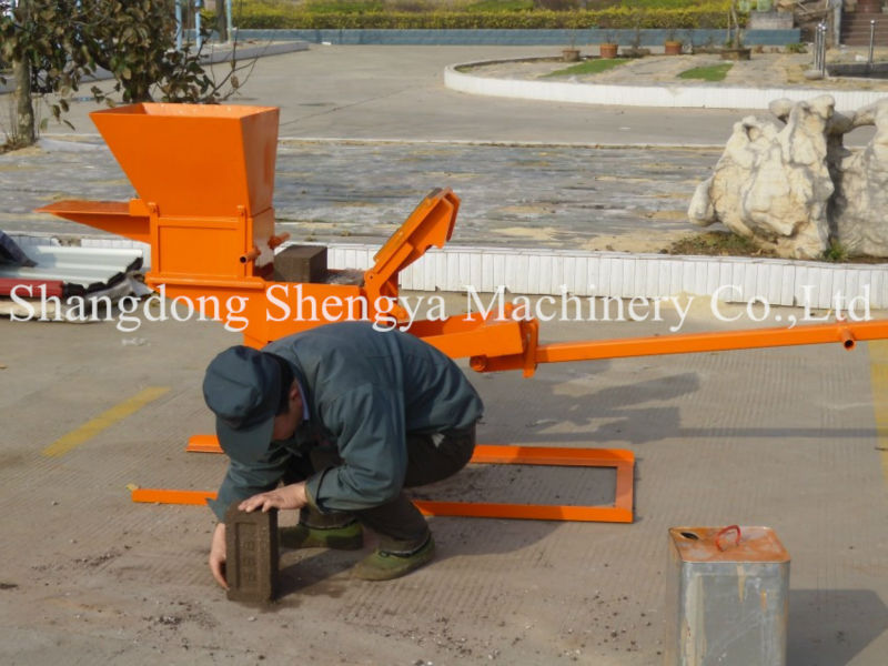 Makiga Brick Machine Mini Qmr2 40 Interlocking Soil Brick