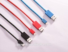 Fabric braided 8 pin usb cable from MFi factory