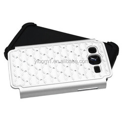 Hot sale Hybrid Hars PC & Soft Silicone With Studded Diamond Dual Layer Case for Samsung Ativ S Neo i187 i800