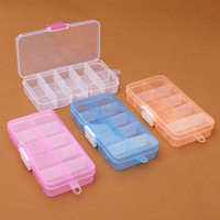 Plastic Boxes 10 Compartment Storage Box Jewelry Earring Bin Case Container for Sundries Eco Friendly Good Qulity