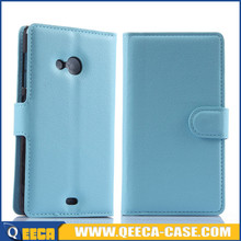 Factory price PU leather flip back cover for nokia lumia 535 case cover