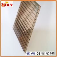 pc double wall polycarbonate roof sheet / frosted hollow pc sheet