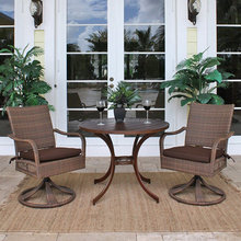 2015 Dining room used rattan garden furniture wicker coffee table and chairs