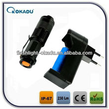 Super power battery option Q5 cree zoom led handlight