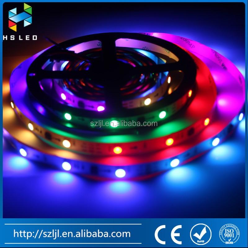 크리스마스 야외 조명 WS2811 RGB 디지털 DMX LED 스트립 WS2801 WS2812B ...