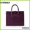 fashion lady leather tote bag handbag with strap