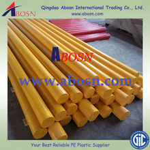 Light weight Yellow HDPE rod/bars