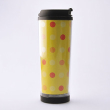 Direct from china wholesale insulated double wall coffee plastic travel mug