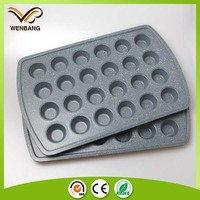 new marble bakeware, metal 24 cup round shape muffin pan