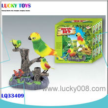 2015 Electric sound control magpie with 2 birds made in Shantou factory gift toys for kids wholesale home decoration