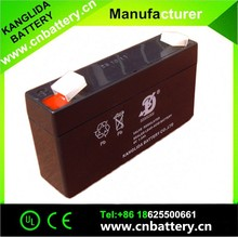 kanglida best price 6v 1.3ah maintenance free deep cycle storage battery for security alarm system