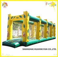Inflatable indoor playground equipment outdoor playground jungle obstacle course