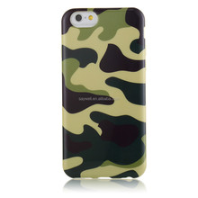 Cool camouflage TPU IMD mobile phone case for Iphone 6