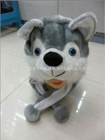 fashion plush wolf toy animal hat